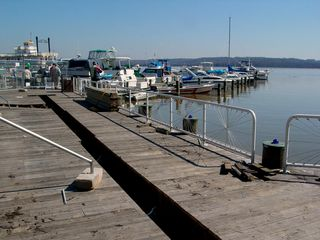 """When I first got over to the waterfront, my first reaction was """"Oh, no!"""" I had not expected for the waterfront docks to be under renovation on the shoot date (March 8, 2003), and I was afraid that all I would be able to see would be renovation..."""