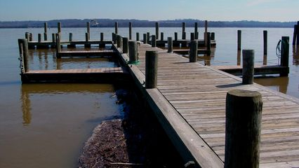 The docks themselves are wooden, and look somewhat aged, and are speckled with bird poop, so watch your step.