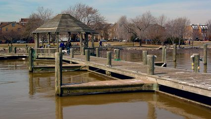 One nice feature is the presence of wooden gazebos along some of the docks, allowing one an opportunity to stop and ponder...