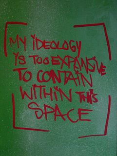 """""""My ideology is too expansive to contain within this space."""" Personally, I found that to be quite deep, as it made me think about the extent of various artists' ideologies, as well as my own views on life."""