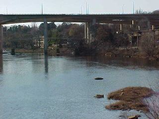 Here, you can get a better look at the Belle Isle footbridge in the background of the image.