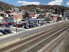 Railroad tracks, viewed from the Bedford/Frederick Street bridge.