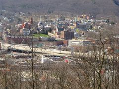 View of Cumberland from the WTBO transmitter site, on Wills Mountain.