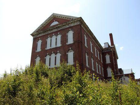Northwest corner of original building