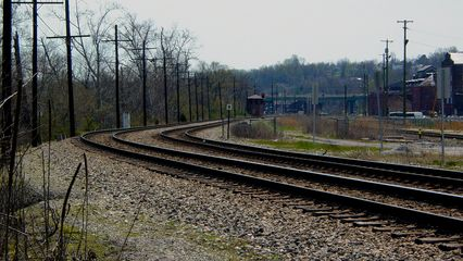 To access the James River, however, one must first cross a set of railroad tracks.