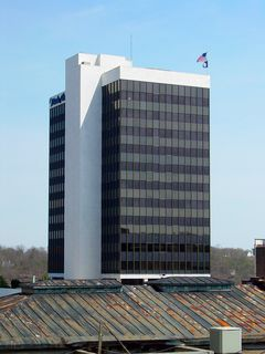 Lynchburg's tallest building is the Bank of the James Building, completed in 1972, and built in the modern style. Based on photos from Emporis, the building appears to have housed offices for Wachovia before being occupied by the Bank of the James.