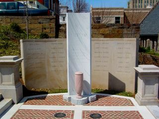 Memorials along Monument Terrace include one for Vietnam...