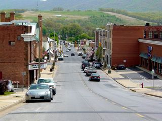 Downtown Waynesboro as viewed from near the old News Virginian building
