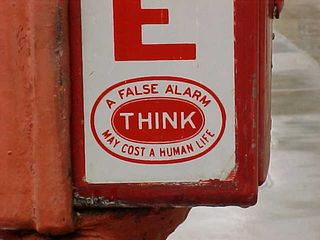 On the side of the box, in big letters, its purpose is identified - FIRE. And if you're thinking about pulling it as a prank, don't. A false alarm may cost a human life, if firefighters are responding to a malicious pull instead of a real fire.