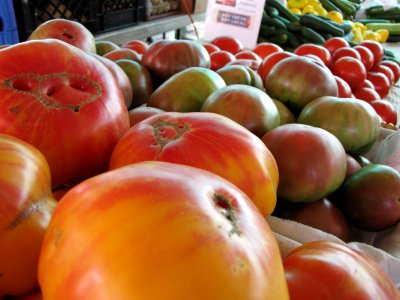 Tomatoes for sale at Eastern Market