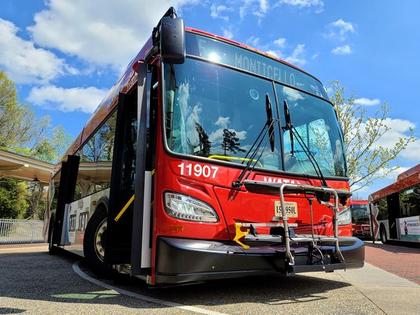 Williamsburg Area Transit Authority (WATA) bus 11907 at the Williamsburg Transportation Center.