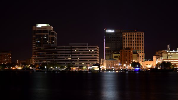 Downtown Norfolk, Virginia, viewed from across the Elizabeth River in Portsmouth.