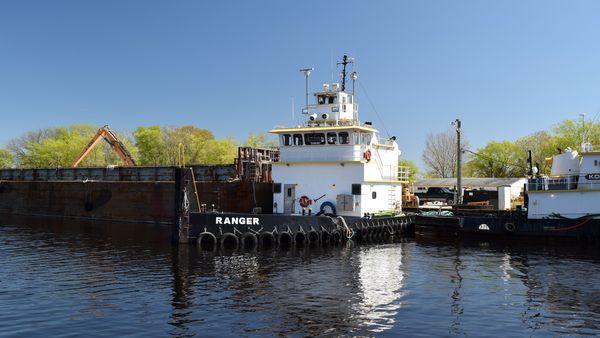 The Ranger, a diesel tugboat docked in Chesapeake, Virginia.