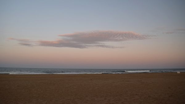 Sunset at Virginia Beach.