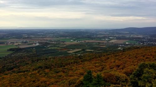 View facing northwest towards Waynesboro, Pennsylvania.