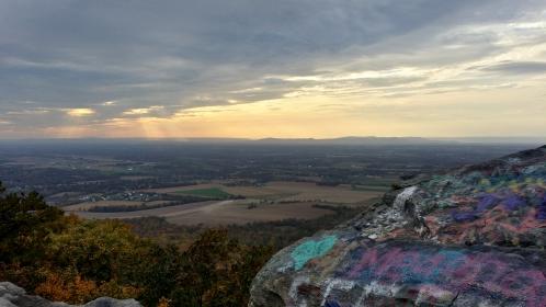 View facing southwest towards Washington County, Maryland.