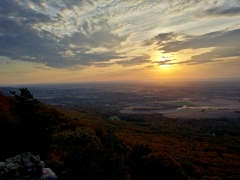 Sunset as viewed from High Rock, facing southwest towards Washington County, Maryland.