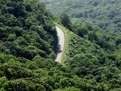 The Blue Ridge Parkway south of the Rocks