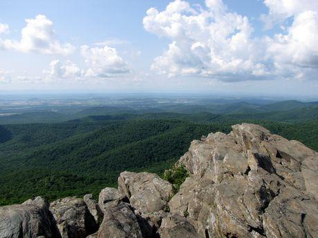 View towards Waynesboro from the Rocks