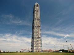 Washington Monument undergoing restoration, 2013
