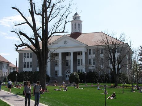 Wilson Hall, at the head of the Quad.