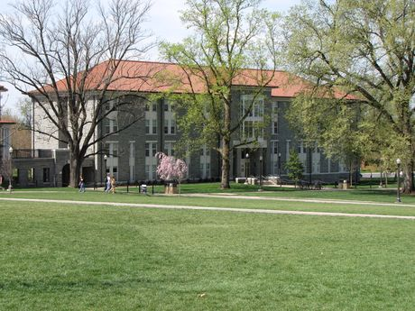 Wampler Hall, a dormitory in the Bluestone area of campus.