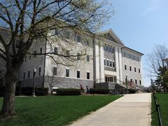 Burruss Hall, built in the 1950s and renovated in the early 1990s.