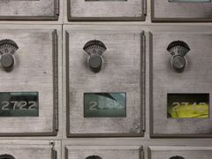 Student mailboxes.