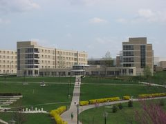 Chesapeake Hall, the second of the Skyline area dorms, completed in 1999.
