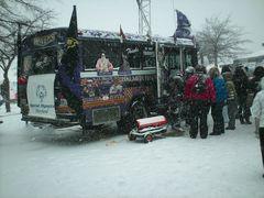 Baltimore Ravens fan bus.