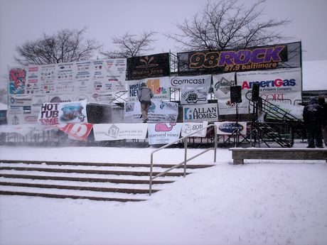 Stage, used primarily for the Polar Bear Plunge Pageant, and for announcements.