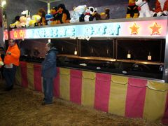 Carnival games in the main tent.