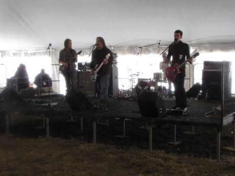 Live entertainment at the rear of the main tent.