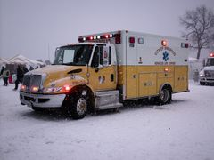 City of Annapolis ambulance, one of several ambulances on scene from various jurisdictions.