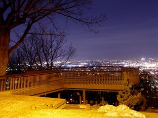 The observation deck affords patrons a wide view of the City of Roanoke below.