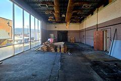 Empty press room at the former News Virginian building, at 544 West Main Street in Waynesboro, Virginia.