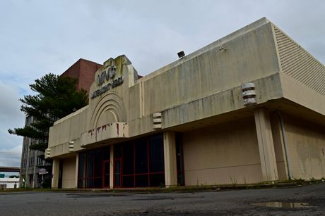 Former Nobody Beats the Wiz building on Old Keene Mill Road in Springfield, Virginia. The building most recently housed MVC Late Night Video, a store that sold adult-oriented media and novelties. MVC closed at this location in late 2019.