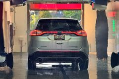 A Ford Edge goes through an automatic car wash in Smithsburg, Maryland.