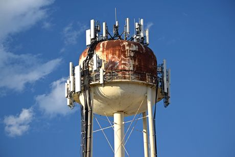 Water tower off of US 1 in Savage, Maryland on the Allied Trailer property.