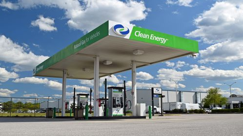 Clean Energy CNG fueling station at Baltimore-Washington International Airport in Anne Arundel County, Maryland.