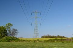 Power transmission lines near Ballenger Creek Pike and Mountville Road in Frederick County, Maryland.
