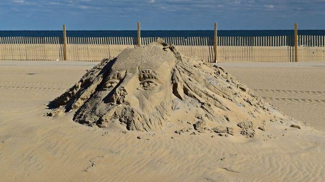 Weathered sand sculpture.