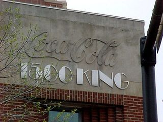"""The old and new come together on the facing of this building... you can see the Coca-Cola logo in stone on the front of the building, and then you can tell that """"1500 King"""" was added in later."""