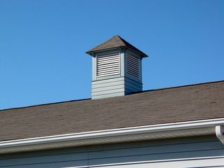 Most buildings contained some type of cupola, either with or without a weather vane. Based on appearance, the various cupolas' functional purpose appears to have been for ventilation.