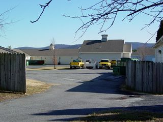 The center area had two access points - one between Buildings 11 and 13 (seen at left), and one further around, between Buildings 15 and 16.