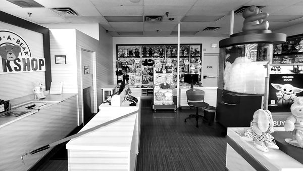 """Build-A-Bear Workshop store inside a Walmart Supercenter in Hampton, Virginia. While Walmart stores remained open throughout the pandemic as """"essential"""" businesses, stores like Build-A-Bear Workshop, despite being located inside Walmart stores, were ordered closed by the government."""