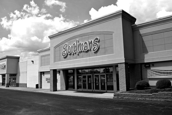 Store closing signage at the Gordmans store in Waynesboro, Pennsylvania. The government-mandated closures, which shuttered all of the company's stores, caused parent company Stage Stores to run out of money and file for Chapter 11 bankruptcy and ultimately go into liquidation while lockdown orders were still in effect.