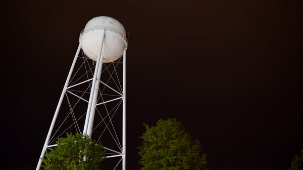 Water tower in Waldorf, Maryland.