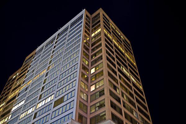 Rosslyn Center, an office building at 1700 North Moore Street in Arlington, Virginia's Rosslyn neighborhood.