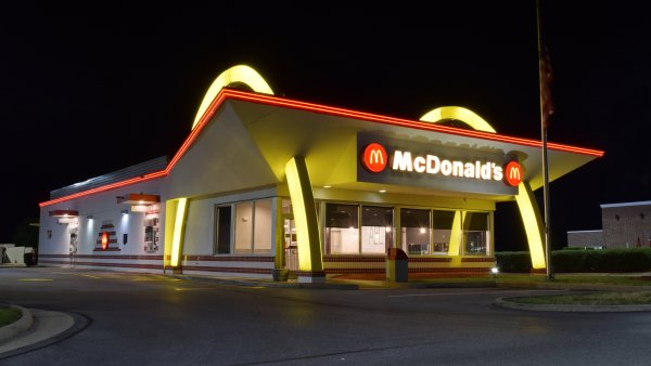 McDonald's restaurant with retro styling in Ranson, West Virginia.